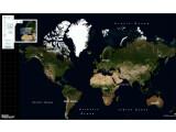 Bild: Die Welt von oben: Von hier aus können sich Online-Reisende Stück für Stück heranzoomen. In manchen Gebieten ist dies ab sofort, dank echten Luftbildaufnahmen, mit beeindruckendem Tiefgang möglich.