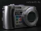 Bild: Frontansicht der Panasonic Lumix DMC-TZ5 mit geschlossenem Objektiv.