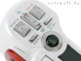 Bild: Zwei Auslöser, eine Zoomwippe, die Menütasten und der Multicontroler.