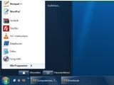Bild: Der Windows-Orb straht wie bei Windows 7, auch die Taskleiste selbst nimmt deutliche Ähnlichkeit mit dem Vista-Nachfolger an.