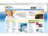 Bild: Die Startseite von Vistaprint wirkt etwas unübersichtlich.