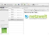 Bild: Evernote unter Mac OS X sieht dem Design des Webdienstes sehr ähnlich. (Bild: Netzwelt)