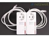 Bild: AVM legt den Adaptern zwei Ethernet-Kabel zum Anschluss von Netzwerk-Geräten bei. (Bild: netzwelt)