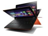 Bild: Genau wie die anderen Modelle der Yoga-Reihe lässt sich auch das Display des IdeaPad Yoga 11S um mehr als 180 Grad nach hinten wegklappen. (Bild: Lenovo)
