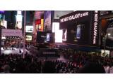 Bild: Parallel zur Präsentation in der Radio City Music Hall veranstaltete Samsung eine Party auf dem Times Square. (Bild: netzwelt)