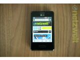 Bild: Das LG Optimus L3 II glänzt durch seinen kompakten Formfaktor. (Bild: netzwelt)