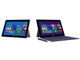 Bild: Äußerlich auf den ersten Blick unverändert: Microsoft stellt mit dem Surface 2 (links) und Surface 2 Pro eine neue Tablet-Generation vor. (Bild: Microsoft)