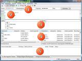 Bild: Nach dem Start des FTP-Clients ist das Fenster in fünf Bereiche geteilt. Oben unter dem Menü finden Sie die Serverleiste (1), über die Sie die Verbindung zum FTP-Server aufbauen. Gleich darunter sehen Sie das Nachrichtenprotokoll (2). Dann wird das Fenster noch einmal vertikal geteilt. Links sehen Sie den Verzeichnisbaum (3) und darunter den Ordnerinhalt (4) des lokalen Computers. Rechts daneben ist der Verzeichnisbaum und der Ordnerinhalt des FTP-Servers zu erkennen. Unten befindet sich die Warteschlangen-Anzeige (5). (Bild: Screenshot/FileZilla)