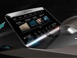 Bild: Eine von sehr vielen technische Spielereien: Flexible OLED-Screens neigen sich im Avant Prologue ergonomisch dem Fahrer entgegen.