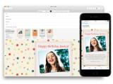 Bild: Apple Mail bringt grafisch ansprechende Vorlagen für den Mailversand mit.