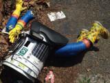 Bild: HitchBot am Ende: Unbekannte haben Kopf und Arme abgerissen.