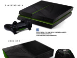 Bild: Über Facebook winkt die PS4 im GTA 5-Format. (Bild: Rockstar)