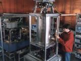Bild: Atomuhr an der Physikalisch-Technischen Bundesanstalt.