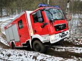 Bild: Löschgruppenfahrzeugs für den Katastrophenschutz im Einsatz: Eine neue App warnt bei Gefahren,