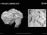 Bild: An dieser Stelle wird sich Rosettas Lander Philae niederlassen. (Bild: ESA/Rosetta/MPS for OSIRIS Team MPS/UPD/LAM/IAA/SSO/INTA/UPM/DASP/IDA)