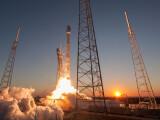 Bild: Falcon 9-Rakete von Space X: Erneute Landung gescheitert.