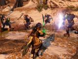 Bild: Neuem Videomaterial von Gameinformer nach, scheinen Schwerter auch an der Planetenoberfläche nutzbar zu sein.