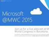 Bild: Am Montagmorgen ab 8:30 Uhr stellt Microsoft neue Produkte auf dem MWC 2015 vor. Ihr könnt die Pressekonferenz live im Stream verfolgen.