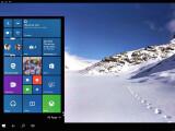 Bild: Windows 10 auf einem Smartphone, das an einen Monitor angeschlossen ist. Dank der Funktion Continuum passt sich die Desktop-Oberfläche und die Apps automatisch an das neue Ausgabegerät an.