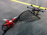 Bild: Die französische Anti-Drohne fängt Quadrocopter und Co mit einem Netz ein.
