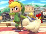 Bild: Cartoon Link und der reguläre Link sind Teil von Smash Bros. auf dem 3DS.