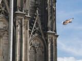 Bild: Ein Adler über Köln: Sony und Freedom lassen den Raubvogel über der Rheinmetropole fliegen.