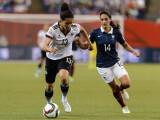 Bild: Szene aus dem Duell gegen Frankreich: Im Spiel um den 3. Platz trifft Deutschland jetzt auf England.