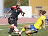 Bild: Deutschland gegen Schweden beim Algarve-Cup im März. Bei der WM geht es für die DFB-Elf zum Start gegen die Elfenbeinküste.