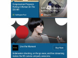 Bild: Der HTC BlinkFeed zeigt nun auch Werbung an.