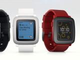 Bild: In drei Farben gibt es die Pebble Time zu kaufen.