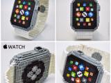 Bild: Günstiger als das Original, aber mit größerem Aufwand verbunden: Apple Watch-Nachbau aus über 800 Nanoblocks.