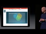 Bild: Apple_Jonathan Ive stellt das neue Microsoft Office Paket für das iPad vor.