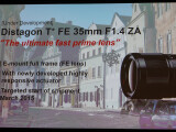 Bild: Mit dem Distagon T* FE 35mm 1.4 ZA kommt bereits das zweite Objektiv mit 35mm Brennweite. Jedoch ist die Neuvorstellung deutlich Lichtstärker.