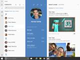Bild: Das neue Skype ist offenbar direkt in der Kontakte-App von Windows 10 integriert.