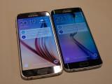 Bild: Das Galaxy S6 (links) und das Galaxy S6 Edge bilden die neue Doppelspitze im Produktportfolio des südkoreanischen Herstellers Samsung.