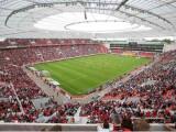Bild: Multimedial vernetzt - die BayArena von Bayer Leverkusen.