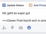 Bild: Facebook experimentiert derzeit mit den sich selbst löschenden Posts.