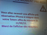 Bild: Vorbestellungen für das iPhone 6S und das iPhone 6S Plus sollen ab 11.9 möglich sein. Um welchen Provider es sich handelt, wird jedoch nicht ersichtlich.
