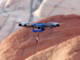 Bild: Der Fotokite Quadrocopter im Flug