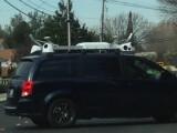 Bild: Dieses Bild soll den Apple-Van zeigen. Auffällig ist vor allem die Dachkonstruktion, in der Kameras untergebracht sein sollen.