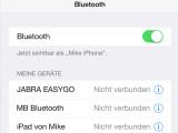 Bild: Leider harmoniert iOS 8 mit vielen Bluetooth-Geräten nicht, was für große Verärgerung bei den Nutzern führt.
