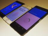 Bild: Dieses Bild soll das Sony Xperia Z5 (rechts) sowie das Z5 Compact nebst Fingerabdruckscanner zeigen. In der M