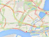 Bild: Sowohl bei Google Maps online als auch in der App Google Maps lasst ihr euch bei Bedarf die aktuelle Verkehrslage anzeigen.