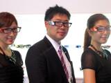 Bild: Toshiba Glass lautet der Name der Datebrille, die auf der CEATEC 2014 zu sehen ist.
