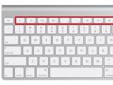 Bild: Auf dem Mac kann die obere Reihe der Tasten auf der Tastatur unterschiedlich belegt werden.