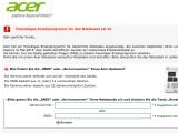 Bild: Acer hat das freiwillige Ersatzprogramm für das Notebook-Netzkabel LS-15 gestartet.