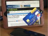 Bild: Der Safari-Browser lies Kreditkartendaten über die Kamera ein.