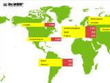 Bild: Analayse von Dr. Web: iWorm verbreitet sich in den USA am stärksten.
