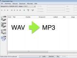 Bild: Exact Audio Copy konvertiert Sounddateien aus dem WAV-Format in das MP3-Format.