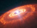 Bild: Ein Sonnensystem entsteht. Wissenschaftlern des Alma-Observatoriums sind spektakuläre aufnahmen gelungen.
